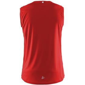 Craft Mind - Camiseta sin mangas running Hombre - rojo